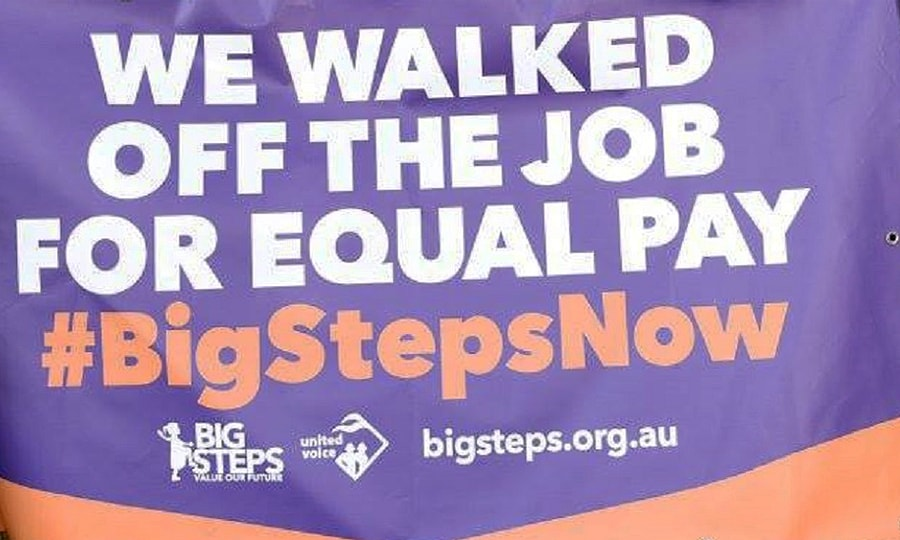 Big steps walk off